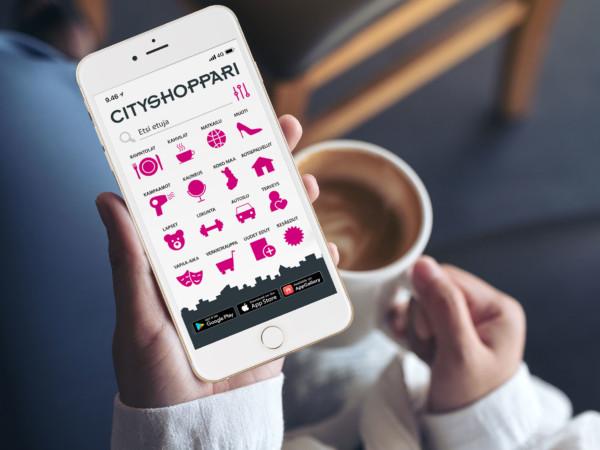 CityShoppari-puhelinsovellus ostosetuineen maksutta liiton jäsenille -Artikkelikuva