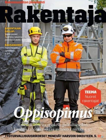 6/2021: Nuoret ja rakentajat -lehden kansikuva